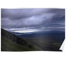 dingle and the lakes of killarney from the Derrynasaggart mountains Poster