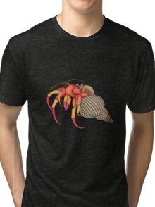 hermit crab in green Tri-blend T-Shirt