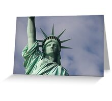 Lady Liberty.. Greeting Card