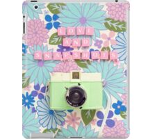 Love and Snapshots  iPad Case/Skin