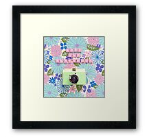 Love and Snapshots  Framed Print