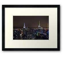 NYC @ Night.. Framed Print
