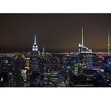 NYC @ Night.. Photographic Print