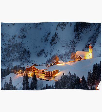 Skiing Resort Poster