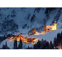 Skiing Resort Photographic Print