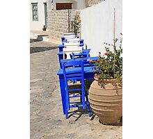 Hydra Restaurant, Greece Photographic Print