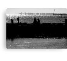 Silhoutte of Pier Canvas Print