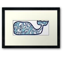 Lilly Pulitzer Whale Shape Up or Ship Out Framed Print