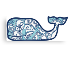 Lilly Pulitzer Whale Shape Up or Ship Out Canvas Print