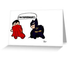 Batman Vs Superman  Greeting Card