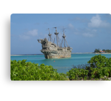 The Flying Dutchman at Disney's Castaway Cay Canvas Print
