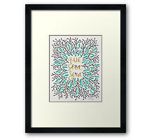Whatever Will Be, Will Be (Turquoise & Gold) Framed Print