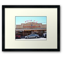 Olive Oatmans Ice Cream Saloon Framed Print