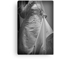 Second Guessing the Gown Metal Print