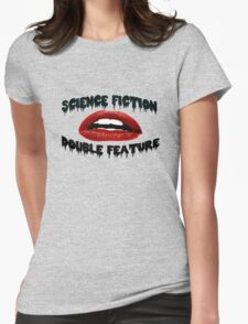 Science Fiction Double Feature Womens Fitted T-Shirt