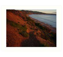 colours of evening, Sellick's Beach Art Print