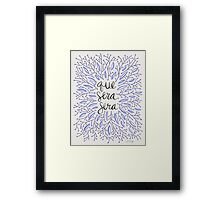 Whatever Will Be, Will Be (Lavender Palette) Framed Print