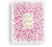 Whatever Will Be, Will Be (Pink & Gold) Metal Print