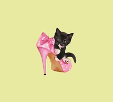 Kitten with shoe by Vitalia