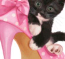 Kitten with shoe Sticker