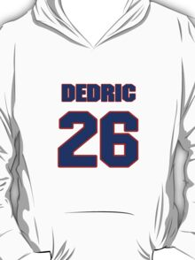 National football player Dedric Mathis jersey 26 T-Shirt