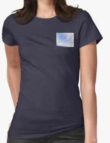 Serenity Prayer Blue Sky Gentle Clouds Womens Fitted T-Shirt