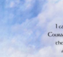 Serenity Prayer Blue Sky Gentle Clouds Sticker