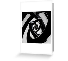 Intersection of 3-D Spirals Greeting Card