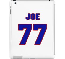 National football player Joe Wong jersey 77 iPad Case/Skin