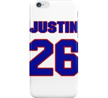 National football player Justin Rogers jersey 26 iPhone Case/Skin