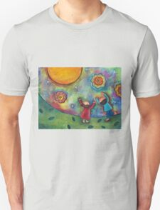 Children and the Moon  T-Shirt