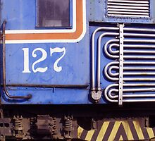 Windows of a Costa Rican Locomotive by Guy Tschiderer