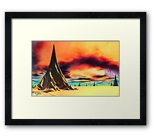 Storms of the Gods Framed Print