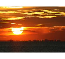 Southend - Sky on Fire Photographic Print