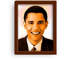 Barack Obama Color Canvas Print