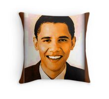 Barack Obama Color Throw Pillow