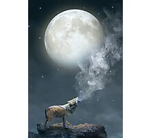 The Light of Starry Dreams (Wolf Moon) Photographic Print