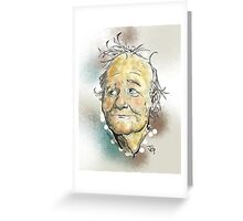 Bill Murray Portrait Greeting Card