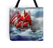 Clipper Ship Indian Queen in Rough Seas (2) - all products Tote Bag