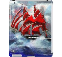 Clipper Ship Indian Queen in Rough Seas (2) - all products iPad Case/Skin