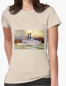 The Robert E Lee Paddle Wheeler 1866 Womens Fitted T-Shirt