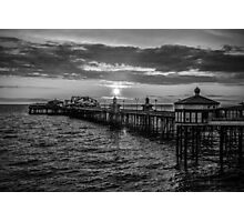 Sunset Black and White Photographic Print