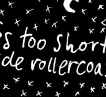 Life's too short to ride rollercoasters Sticker