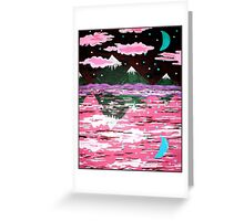 Pink Clouds, Mountains Greeting Card