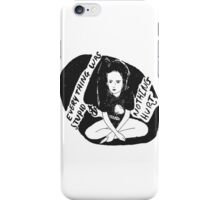 Everything was stupid and nothing hurt (90% black) iPhone Case/Skin