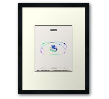 Carbon - Element Art Framed Print