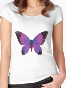 Polygonal Butterfly Women's Fitted Scoop T-Shirt