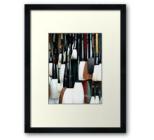 Brushes Framed Print