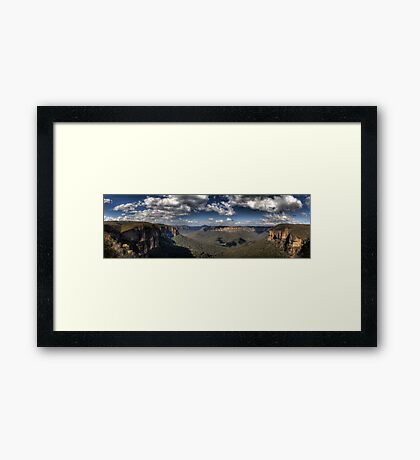 Grose Valley from Govetts Leap lookout Blue Mountains Revisited Framed Print