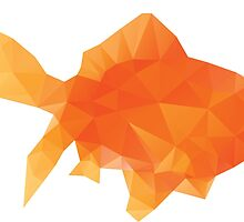 Polygonal Gold Fish by AnnArtshock
